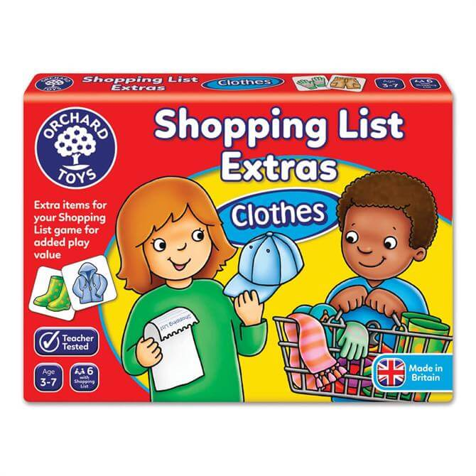 Orchard Toys Shopping List Game Extras Clothing Booster Pack