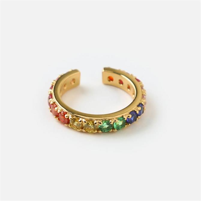 Orelia London Jewellery Rainbow Pave Ear Cuff