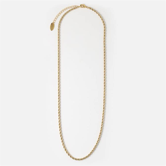Orelia London Jewellery Golden Twisted Rope Chain Necklace