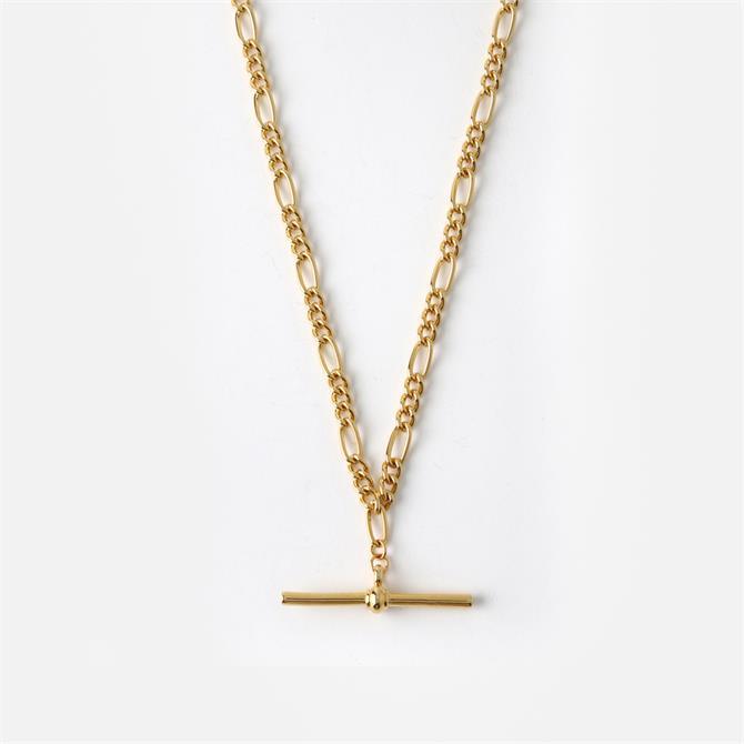 Orelia London Jewellery Golden Chunky T-Bar Figaro Chain Necklace
