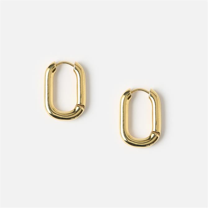 Orelia London Jewellery Chunky Oval Hoop Earrings