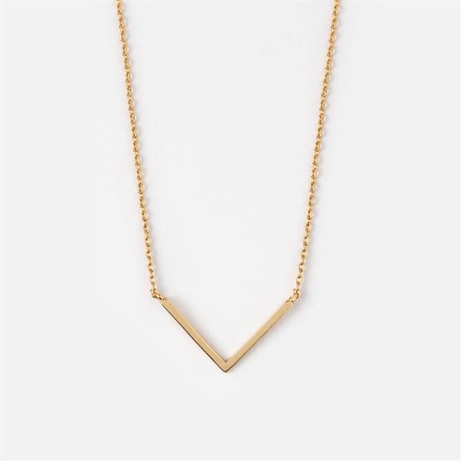 Orelia London Jewellery V Pendant Necklace