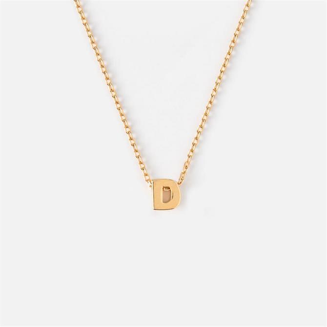 Orelia London Jewellery Initial 'D' Gold Necklace