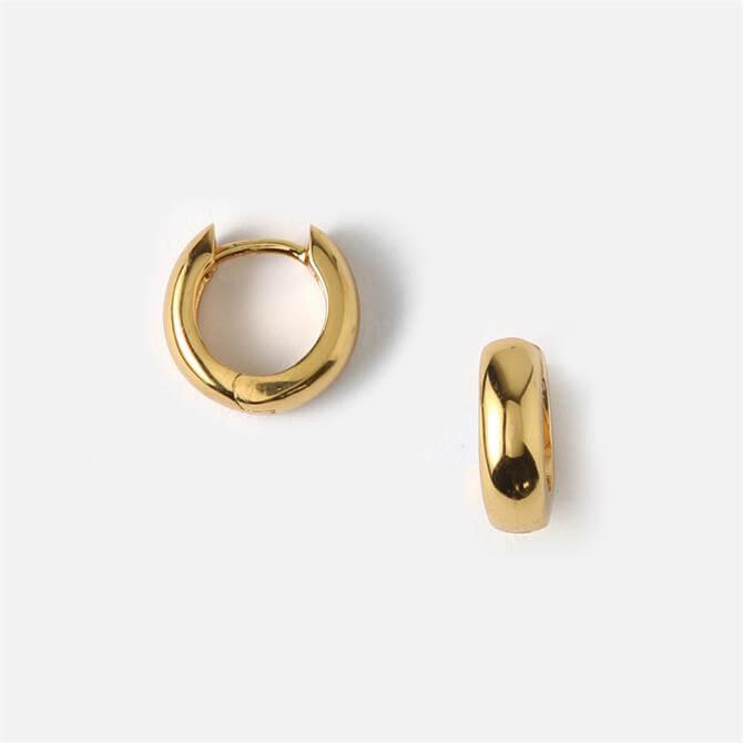 Orelia London Jewellery Mini Domed Clean Huggie Hoop Earrings