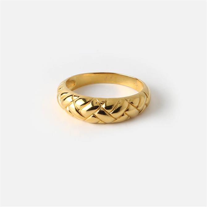 Orelia London Jewellery Domed Waffle Ring