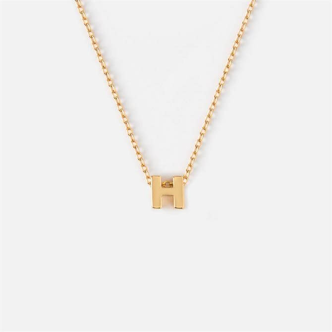 Orelia London Jewellery Initial 'H' Gold Necklace