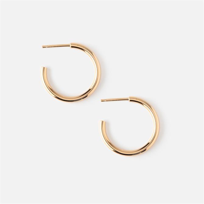 Orelia London Jewellery Chunky Mid-Size Hoop Earrings