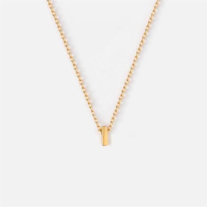 Orelia London Jewellery Initial 'I' Gold Necklace