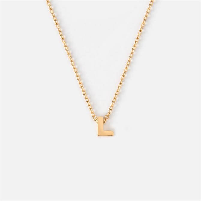 Orelia London Jewellery Initial 'L' Gold Necklace