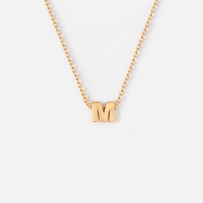 Orelia London Jewellery Initial 'M' Gold Necklace