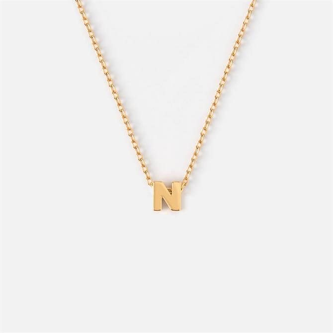 Orelia London Jewellery Initial 'N' Gold Necklace