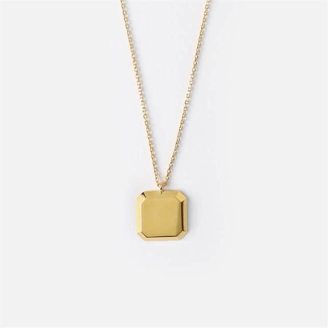Orelia London Jewellery Square Disc Necklace