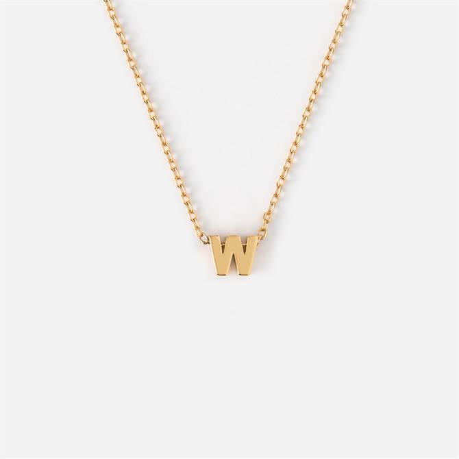 Orelia London Jewellery Initial 'W' Gold Necklace