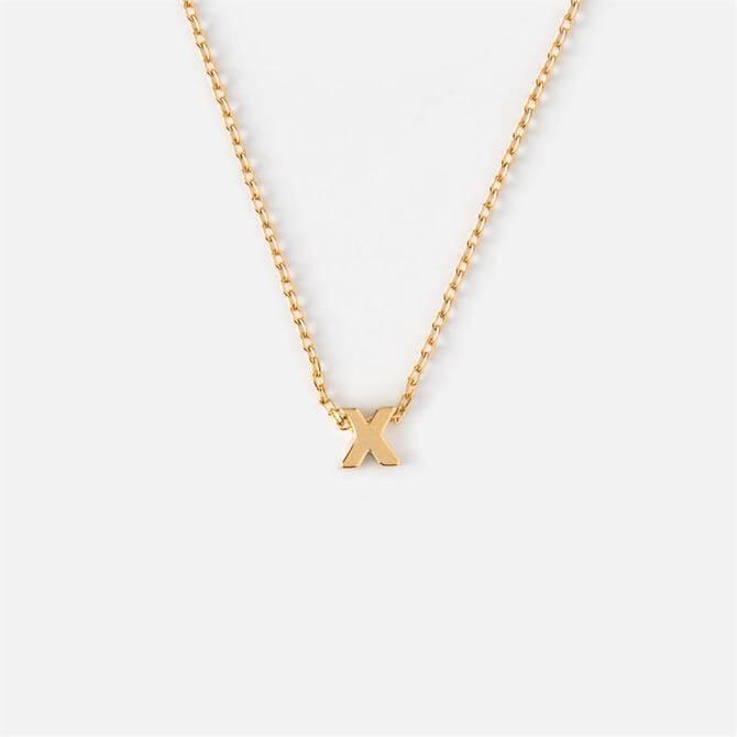 Orelia London Jewellery Initial 'X' Gold Necklace