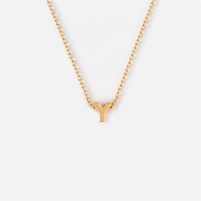 Orelia London Jewellery Initial 'Y' Gold Necklace