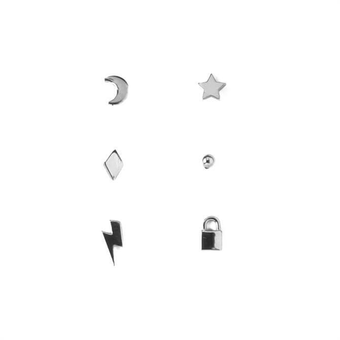 Orelia London Jewellery Mixed Charm Stud Earrings 6 Pack