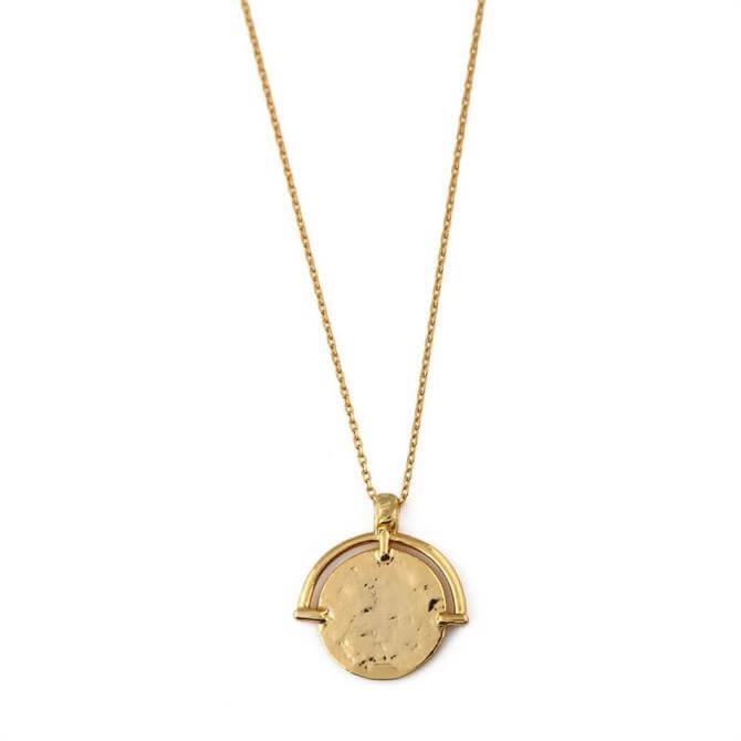 Orelia London Jewellery Gold Molten Coin & Frame Necklace