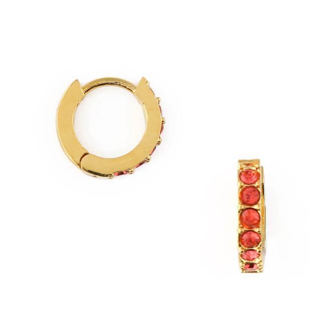 Orelia London Jewellery Padparadscha Huggie Hoop Earrings
