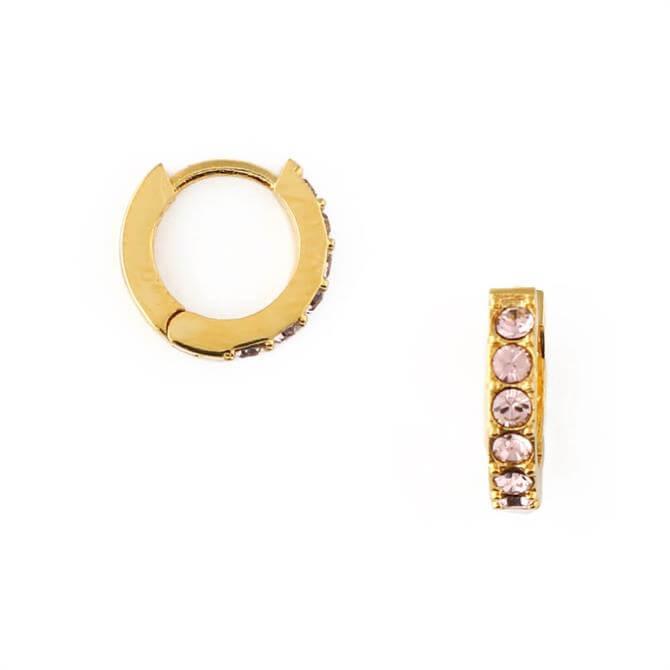 Orelia London Jewellery Vintage Rose Huggie Hoop Earrings