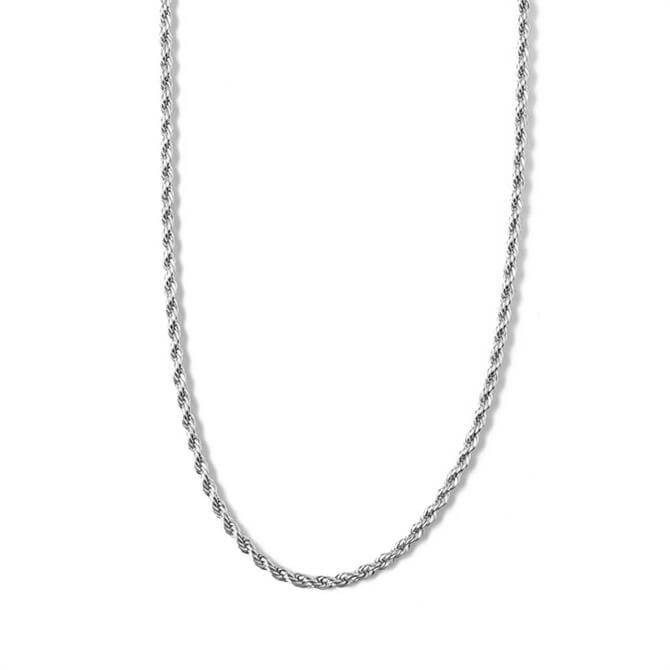 Orelia London Jewellery Twisted Rope Silver Chain Necklace