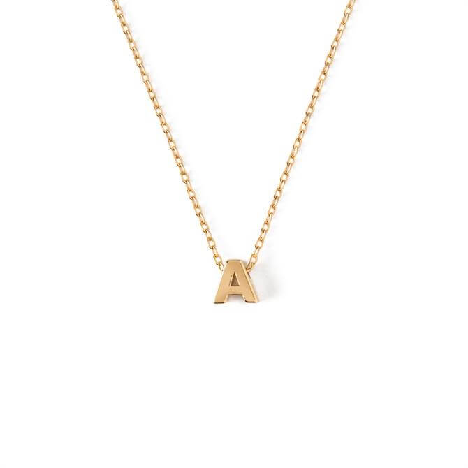 Orelia London Jewellery Initial 'A' Gold Necklace with Gift Box