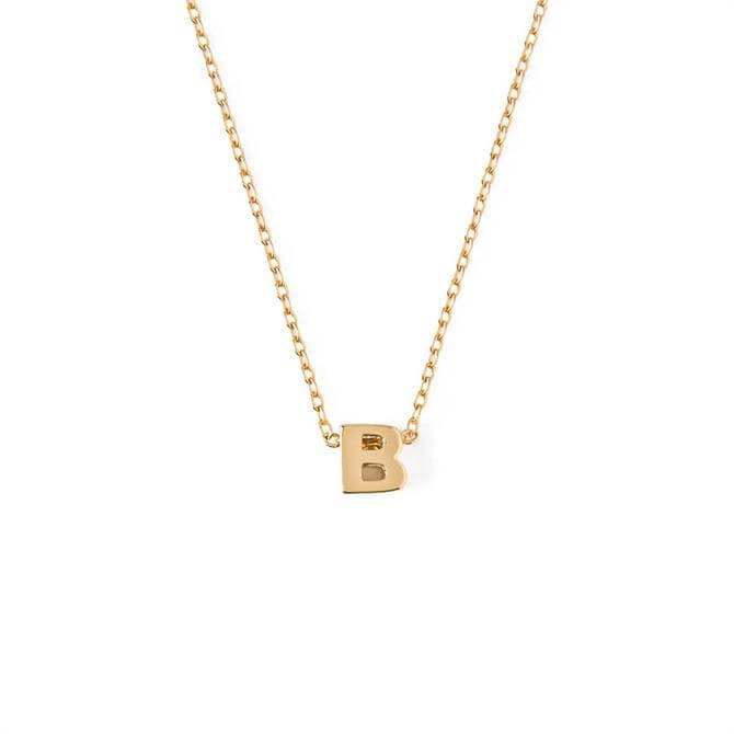 Orelia London Jewellery Initial 'B' Gold Necklace with Giftbox