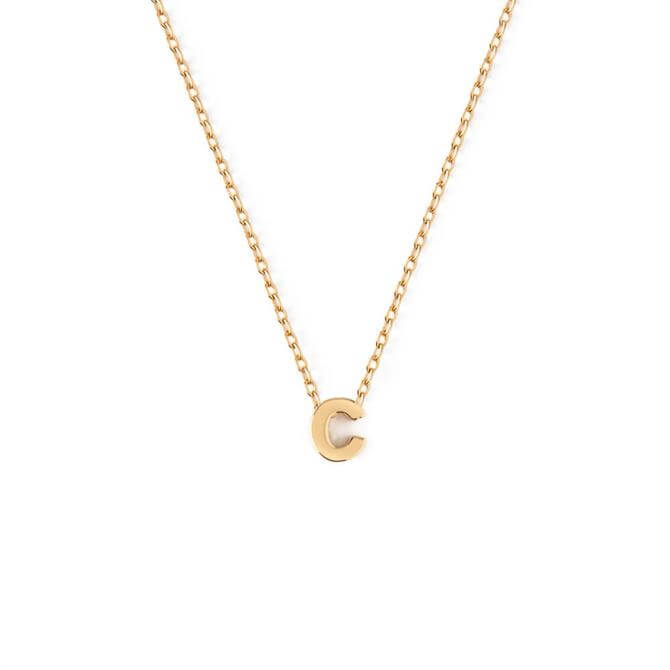 Orelia London Jewellery Initial 'C' Gold Necklace with Giftbox