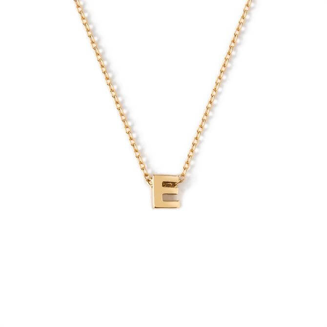 Orelia London Jewellery Initial 'E' Gold Necklace with Giftbox