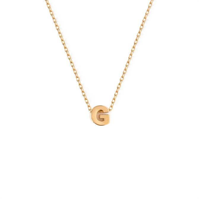 Orelia London Jewellery Initial 'G' Gold Necklace with Giftbox