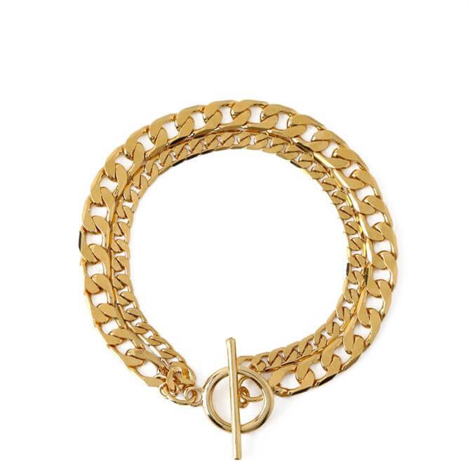 Orelia London Jewellery 2 Row Chain T-Bar Bracelet