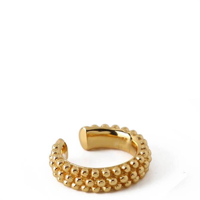 Orelia London Jewellery Triple Row Beaded Metal Ear Cuff