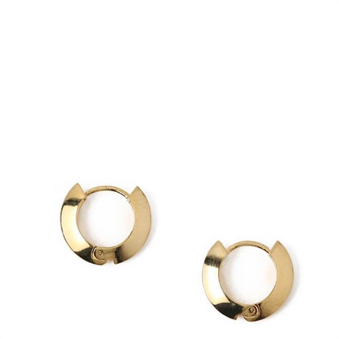 Orelia London Jewellery Gold Clean Edge Huggie Hoop Earrings