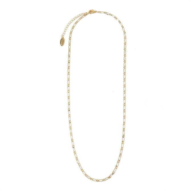 Orelia London Jewellery Gold Flat Dainty Figaro Chain Necklace