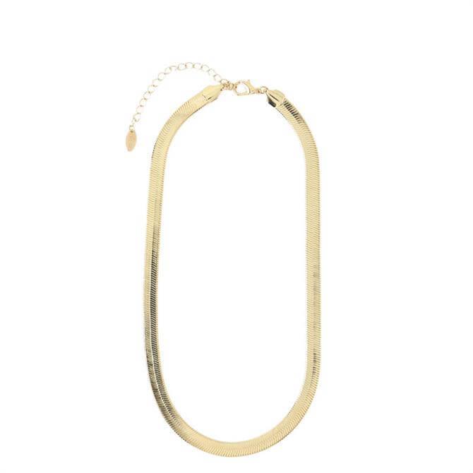 Orelia London Jewellery Gold Chunky Flat Snake Chain Necklace