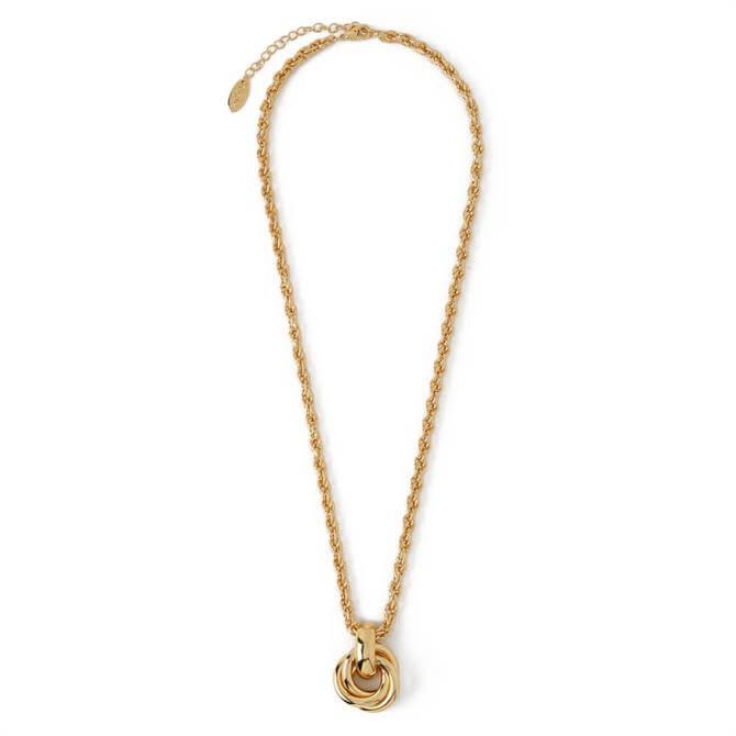 Orelia London Jewellery Gold Interlocking Charm Rope Chain Necklace