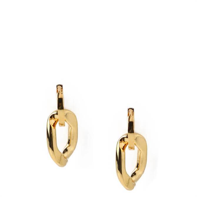 Orelia London Jewellery Gold Chunky Link Huggie Earrings