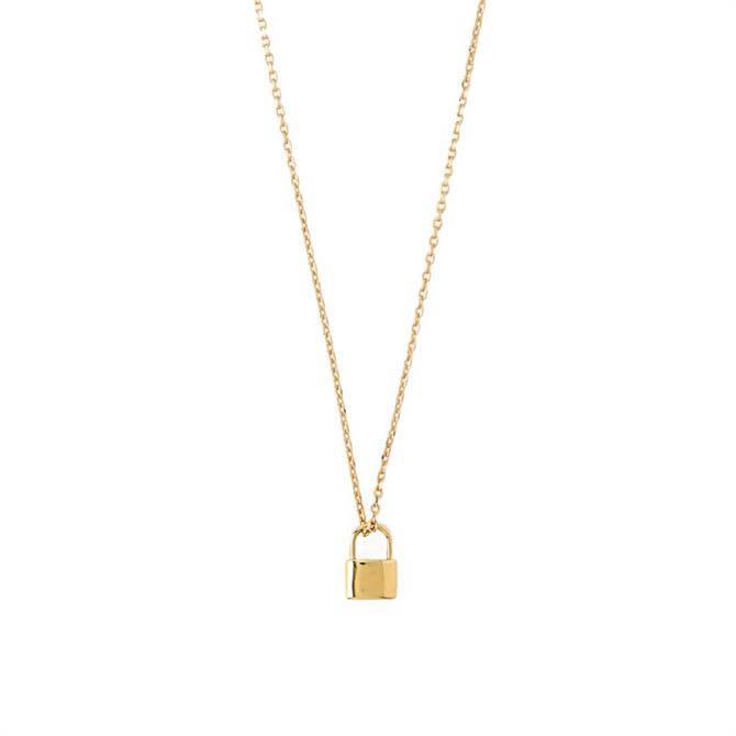 Orelia London Jewellery Gold Mini Metal Padlock Necklace