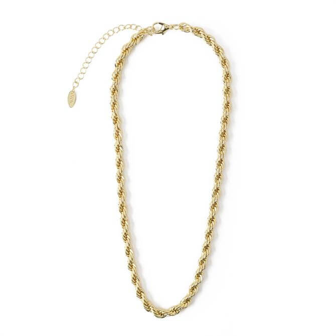 Orelia London Jewellery Gold Chunky Rope Chain Necklace
