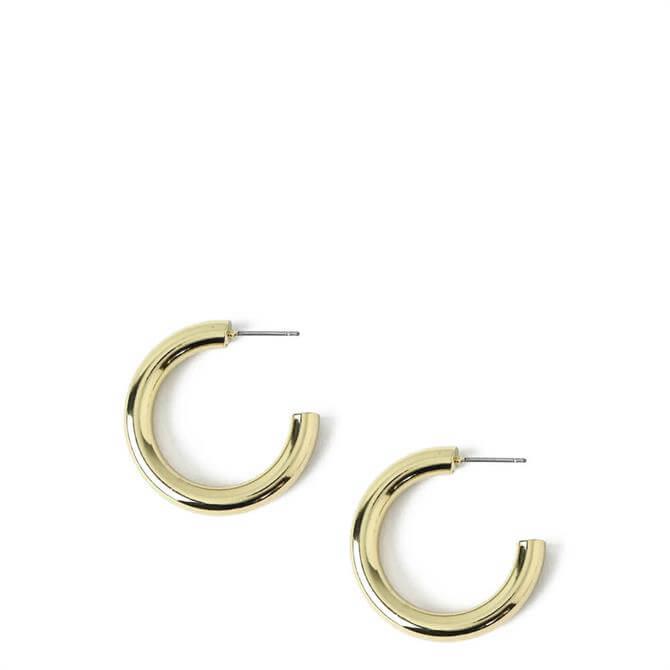 Orelia London Jewellery Gold Small Clean Chunky Hoop Earrings