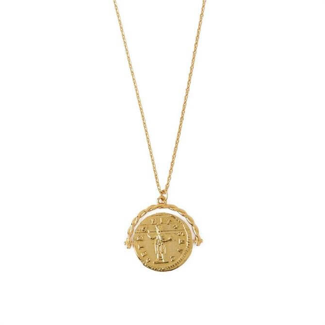 Orelia London Jewellery Gold Coin Spinner Necklace