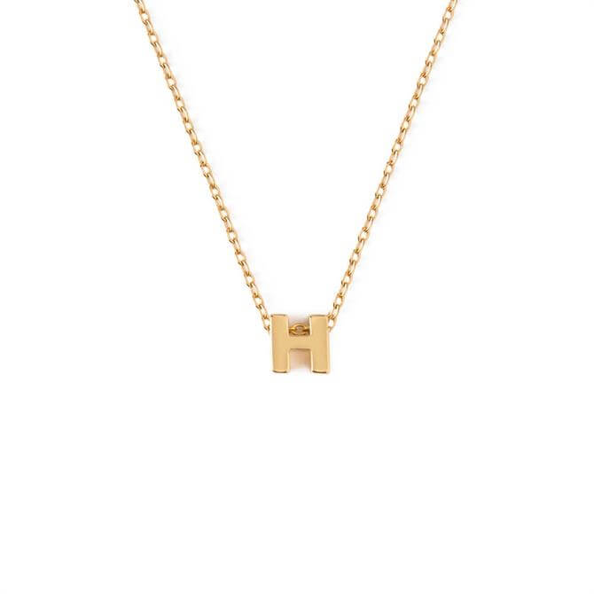 Orelia London Jewellery Initial 'H' Gold Necklace with Gift Box
