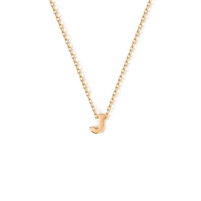 Orelia London Jewellery Initial 'J' Gold Necklace with Gift Box