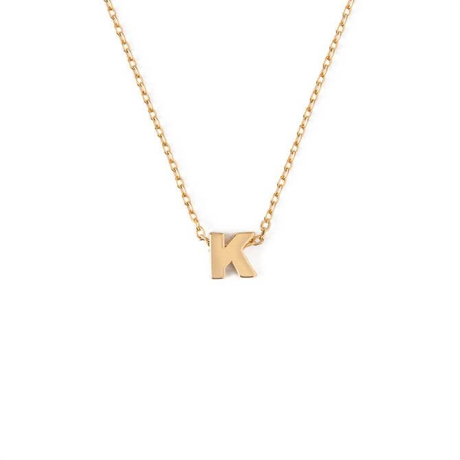 Orelia London Jewellery Initial 'K' Gold Necklace with Gift Box