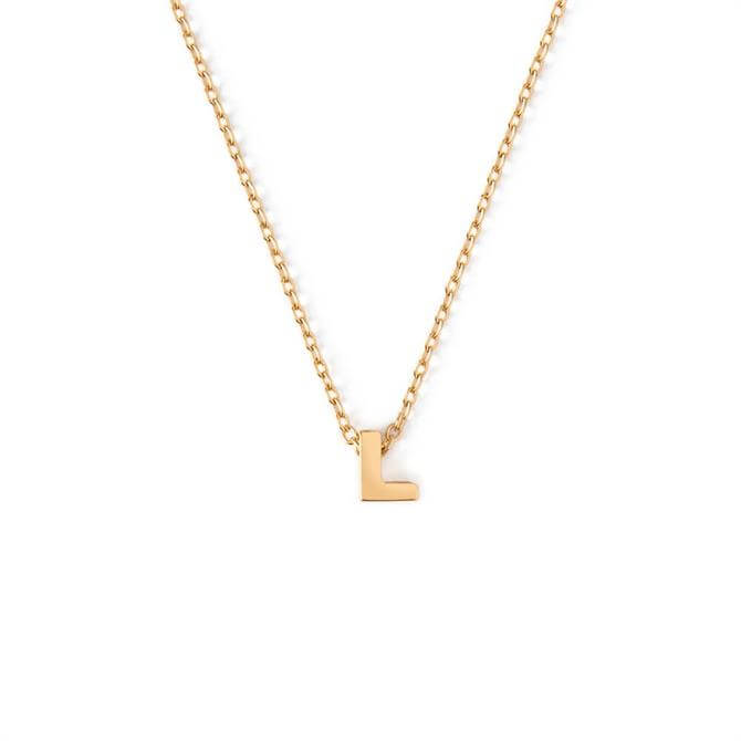 Orelia London Jewellery Initial 'L' Gold Necklace with Gift Box