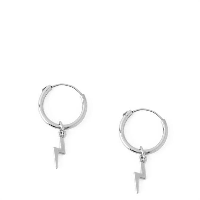 Orelia London Jewellery Lightening Drop Micro Hoop Earrings
