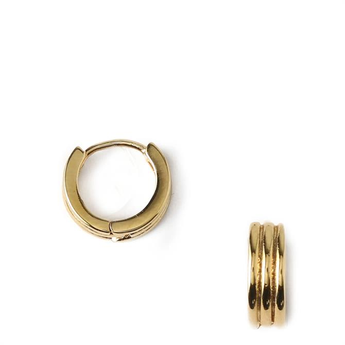 Orelia London Jewellery Linear Huggie Hoop Earrings