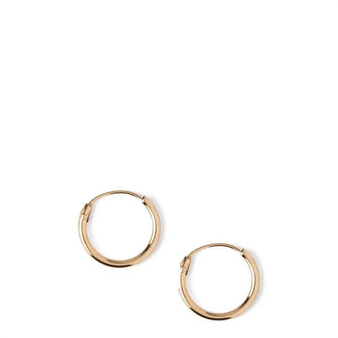 Orelia London Jewellery Gold Mirco Hoop Earrings