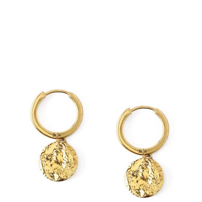 Orelia London Jewellery Molten Coin Huggie Hoop Earrings
