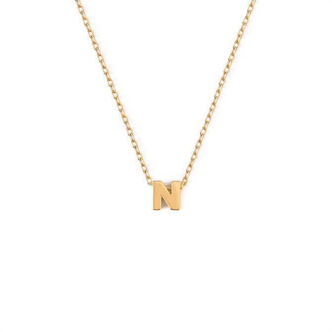 Orelia London Jewellery Initial 'N' Gold Necklace with Gift Box