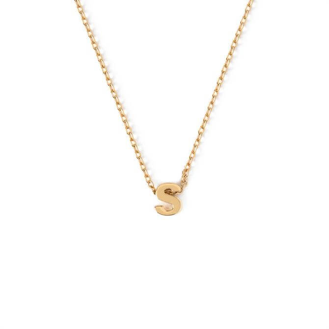 Orelia London Jewellery Initial 'S' Gold Necklace with Gift Box